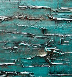 Large Original Abstract Art - 48x24 Large Original Modern Abstract Texture Painting in Acrylic on Canvas - Teal Waves - Custom Painting via Etsy