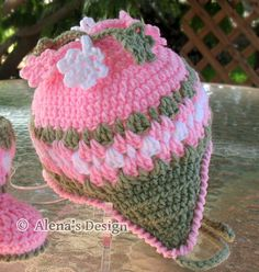 Crochet PATTERN Set Crochet Hat Pattern Crochet por AlenasDesign