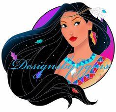Designs by Gen ( Princess Pocahontas, Disney Princess Jasmine, Disney Pocahontas, Disney Nerd, Arte Disney, Disney Fan Art, Pocahontas And John Smith, All The Princesses, Disney Princesses