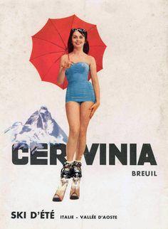 Cervinia-Breuil (Valle d'Aosta) - poster Sciare d'estate