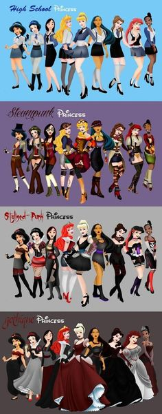 Disney Princesses Fashion… - One Stop Humor: Funny Pictures and Videos!
