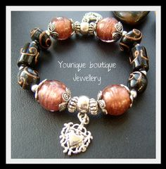 Choco Charm Bracelet by YouniqueBJewellery on Etsy, £6.99