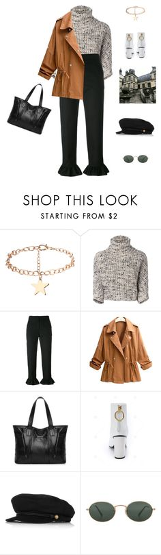"""Mon chéri."" by greciapaola ❤ liked on Polyvore featuring Brunello Cucinelli, MSGM, Eugenia Kim and Ray-Ban"