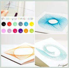 Spirograph gift cards. Cool idea