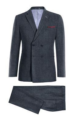 Blue Double breasted 100% Wool Suit http://www.tailor4less.com/en-us/men/suits/4399-blue-double-breasted-100-wool-suit