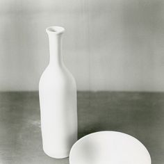 Still life with bottle and bowl