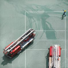 Ever wondered what it takes to be a firefighter? Photographer Chan Dick has created a series of aerial photographs that means you need never ponder the thought.  The series was shot at the Chai Wan Fire...