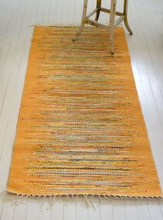 Loom woven cotton rag rugs are a tradition hundreds of years old in Sweden and Finland.  Still going strong with a new generation of artists.  Swedish Rug Weavers through Scandinavian Made.