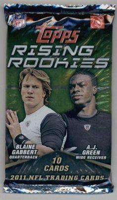 2011 Topps Rising Rookies Football Cards Unopened Pack (10 cards per pack)- Randomly Inserted Autographs & Jersey Cards - Cam Newton Rookie Year! by Rising Rookies. $1.95. 2011 Topps Rising Rookies Football Cards Unopened Pack (10 cards per pack)- Randomly Inserted Autographs & Jersey Cards - Cam Newton Rookie Year!
