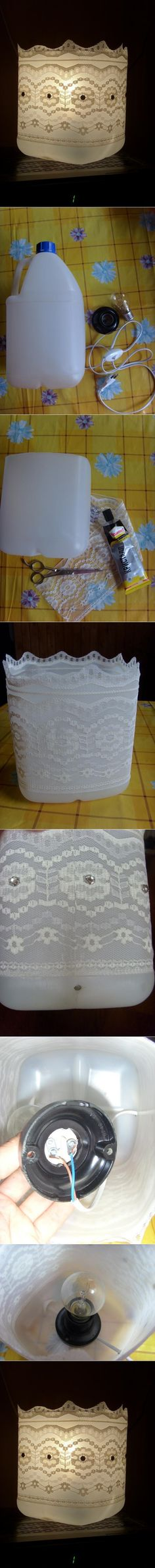 lamp from plastic bottle tutorial wedding decoration?