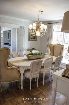 Wing back chairs for dining room table...