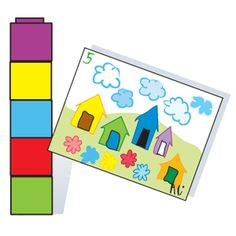 After a read aloud of Anno's Counting Book by Mitsumasa Anno, give each child a tower with a random number of counting cubes, a sheet of drawing paper, and crayons. Have him count the cubes in his tower and label his paper with the corresponding number. Then have him draw sets of objects to correspond with his assigned number. For example, a child with a tower of five cubes might draw a picture with five houses, five flowers, and five clouds.