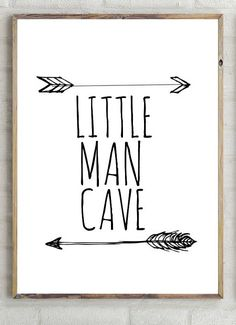 little man cave print,boys decor, instant download, printable boys wall , inspiring wall , printable boy quote, nursery poster #ad