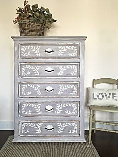 Paloma Chalk Paint® on Dresser | Project Feature on The Little Red Door