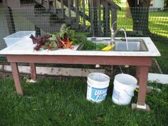 make an outdoor sink