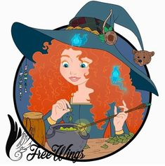 Merida as a Witch making a potion in her little cauldron Disney Movie Characters, Disney Crossovers, Disney Movies, Fictional Characters, Brave Pixar, Brave 2012, Merida And Hiccup, Twisted Disney, Princess Zelda