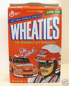 Dale Earnhardt Collectibles 1997 NASCAR Winston Cup Wheaties 12 oz EMPTY BOX  $9.99