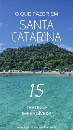 Confira uma lista com 15 destinos imperdíveis em Santa Catarina, e explore cada canto do estado! Destin Beach, Beach Trip, Travel Checklist, Travel Tips, Italy Travel, Travel Usa, Brasil Travel, South America Travel, Trip Planning