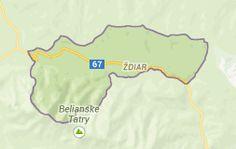 Map of ždiar