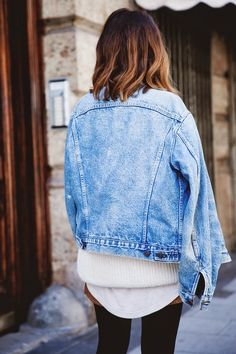 denim jacket and layers #style #fashion