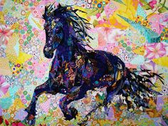 "Quilt by Danny Amazonas of Taiwan - ""Black Stallion"" - made with 90% KFC"