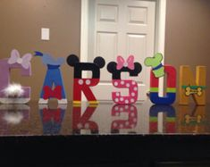 Mickey Mouse Club Custom Name Letters price is per letter Mickey Mouse Letters, Mickey Mouse Bday, Mickey Mouse Clubhouse Birthday, Mickey Party, Mickey Mouse Birthday, Minnie Mouse Party, Mouse Parties, Friend Birthday, 2nd Birthday