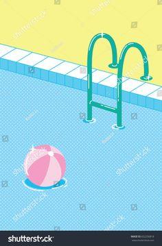 Pool Fun, Cool Pools, Invitation Cards, Templates, Summer, Pools, Invitations, Illustrations, Stencils