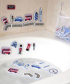 This London Foam Bath Shapes Set is perfect! #zulilyfinds