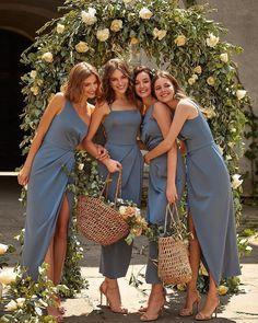 Vintage Bridesmaid Dresses, Bridesmaid Dress Colors, Wedding Bridesmaids, Wedding Dresses, Party Dresses, Bridesmaid Inspiration, Wedding Inspiration, Wedding Looks, Dream Wedding