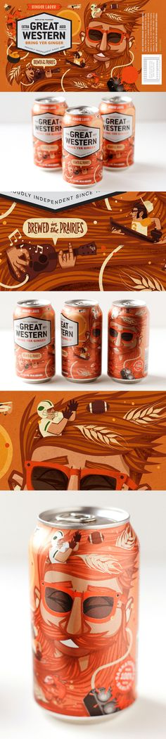 """Bring yer Ginger"" Great Western Brewing by Jorge Lawerta, via Behance"