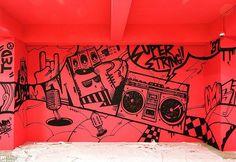 "35 Likes, 3 Comments - BFMIN[범민] (@bfmin_) on Instagram: ""SUPER STRING. . by BFMIN[범민] . . . . #graffiti #artist #BFMIN #범민 #art #design #wallart #graphic…"""