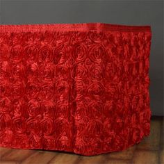 21Ft Wonderland Rosette Table Skirt - Red (Sold Out Until 2017-08-22)