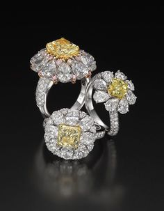 Butani Commitment Fancy Yellow Diamond Rings