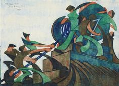 MID-CENTURIA : Art, Design and Decor from the Mid-Century and beyond: Sybil Andrews Modernist Linocut Prints