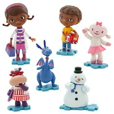Doc Mcstuffins figure set - can be used to top cakes