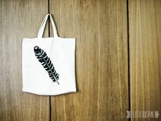 Hand painted cotton bag