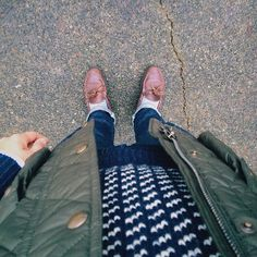 ruggedgallery: Dec.06.2014 OOTD: Saturday Errands Edition // Norwegian Sweater: LL Bean + Vest: Polo Ralph Lauren + OCBD: Gant Rugger + Jeans: Rogue Territory + Socks: J.Crew + Camp Mocs: Quoddy