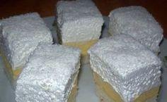 Érdekel a receptje? Hungarian Cake, Hungarian Recipes, Hungarian Food, Coconut Slice, Cake Bars, Pudding Recipes, Desert Recipes, Cake Cookies, Delicious Desserts