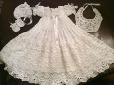 A personal favorite from my Etsy shop https://www.etsy.com/listing/264888192/hand-crochet-christening-gown-blessing