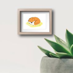 fox, draw, baby room decor