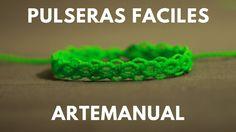 pulseras de hilos rapidas y faciles | tutorial macrame