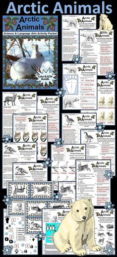 Arctic Animals Winter Activity Packet: Explores many different arctic animals including the Musk Ox, Snow Goose, Arctic Wolf, Arctic Fox, Arctic Hare, the Polar Bear, and the Moose.  Contents include: * Seven Reading Selections & Comprehension Quizzes  *