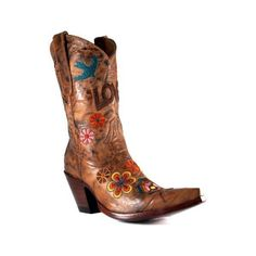 Amazon.com: Old Gringo Women's Cowboy Boots L503 2 Checkuda: Shoes ($549) found on Polyvore