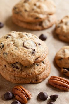 Pecan Raisin Chocolate Chip Cookies – a perfect chocolate chip cookie, plus crunchy buttery pecans and sweet chewy raisins.