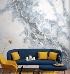 Doğal Mermer Desenli Duvar Kağıdı Modelleri