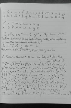 A Guide to Alternative Handwriting and Shorthand Systems