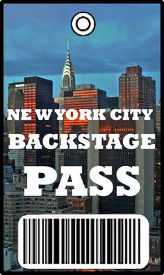 My Backstage Pass to New York City