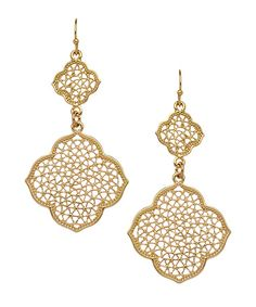 Blu Bijoux Taja Net Dangle Earrings
