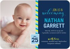 Boy Photo Birth Announcements Marvelous Mail  : Chill