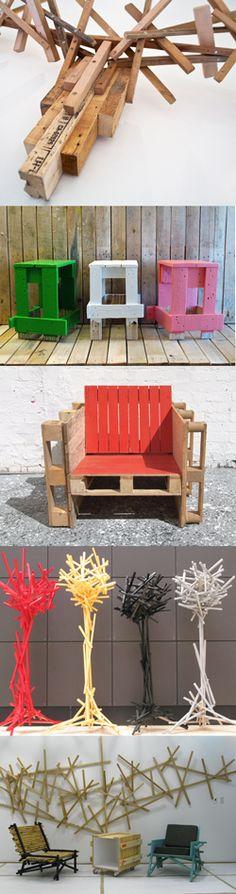 4 ideas with old wood and palets